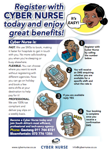 The new Cyber Nurse flyer