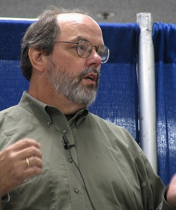 Ward Cunningham, inventor of the wiki, at the first WikiSym in 2005 which was co-located with ACM OOPSLA in San Diego, California. Pic by Peter Kaminski CC BY on Flickr.